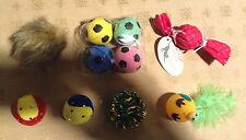 14 Cat Toys Balls Catnip Stuffers String Cats Exercise Running Feline Toys Lot
