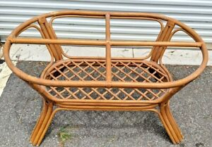 """Rattan Dining Table - BASE ONLY - measures  50"""" x 30"""" & 28.5"""""""
