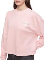 Calvin Klein Jeans Women's Monogram Logo Crewneck Sweatshirt, Blossom, XS
