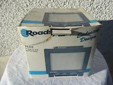 Vintage Roadstar TV-415 portative camping car noir et blanc radio incorporée