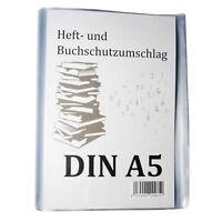 10er Set Premium  Buch Schoner Umschlag Hülle Heft Schutz 21 cm 210 mm  DIN A5