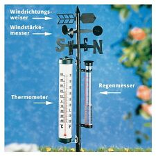 Wetterstation - Außenthermometer, Windmesser, Wind Richtungsweiser und Regenmaß