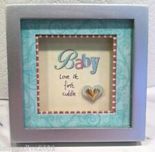 Little Blessings-Shadow Box Magnet by Ganz 'Baby-Love at first cuddle' FREE Ship