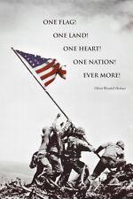 American Flag at Iwo Jima Poster Print, 24x36