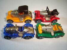 Coloured & Chrome Vintage Model Cars Set 1 1:87 H0 - Kinder Surprise Miniatures