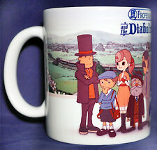 Professor Layton and the Diabolical Box - Coffee MUG - 3DS - Puzzle - gift
