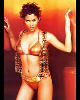 HALLE BERRY 8x10 PHOTO PICTURE PIC HOT SEXY IN TINY GOLD BIKINI 10