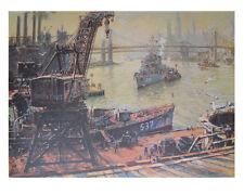Jack Lorimer Gray Kunstdruck Poster Bild Lichtdruck Hafenansicht mit Verladekran