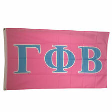 Gamma Phi Beta Light Pink/Light Blue Letter Flag 3' x 5'