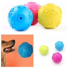 Dog Ball Toys Interactive Rubber Squeaky Ball Pet Chew Play Toys For Puppies