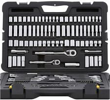 Stanley Mechanics Tool Set SAE Metric Socket Wrench Hex Hand Tools (145-Piece)