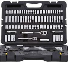Stanley Mechanics Tool Set SAE Metric Socket Wrench Hex Hand Tools (145-Piece)