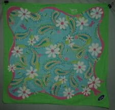 LILLY PULITZER FORD BREAST CANCER AWARENESS SCARF GREEN BLUE PINK RIBBON