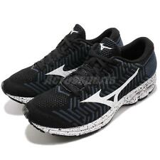 Mizuno WaveKnit R2 Black White Grey Men Running Shoes Sneakers J1GC1829-09