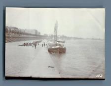 Allemagne, Cologne (Köln), Les Quais du Rhin  Vintage citrate print. Vintage Ger