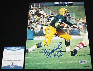 Paul Hornung signed 8 x 10, Green Bay Packers, Notre Dame, Beckett BAS I20621