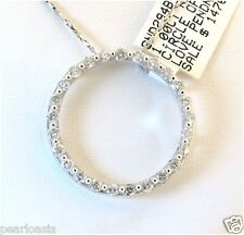 "Circle Of Love, 1.0 Carat Diamond Pendant, 14K White Gold, 0.98"" Wide , NEW"