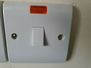 Scolmore Click 20A DP plate switch with neon