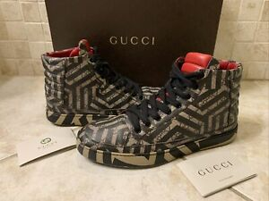 AUTHENTIC GUCCI CALEIDO SUPREME MONOGRAM SNEAKERS 407342 GG 8 (Fits USA 9)