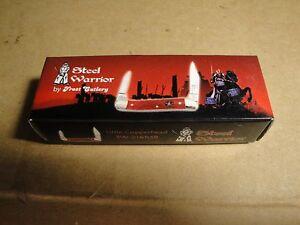"Steel Warrior Little Copperhead SW-216RSB 2 Blade Folding Pocket Knife NIB 3"""