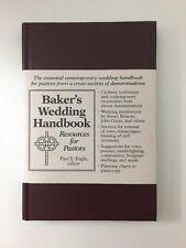 Baker's Wedding Handbook Paul Engle Resources for Pastors Hardcover BRAND NEW