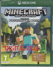 Minecraft Xbox One Edition Includes Favorites Pack Brand New Factory Sealed