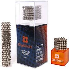 BrainSpark DigitDots 222 Pcs 5mm Magnetic Nickel Balls Desk Fidget