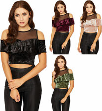 Polyester Short Sleeve Regular Cropped T-Shirts for Women