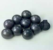 10 Pearl Effect Half Dome Buttons Shank On Back 10mm 13 Colours