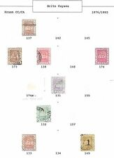 British Guyana stamps 1876 Collection of 8 CLASSIC stamps  HIGH VALUE!