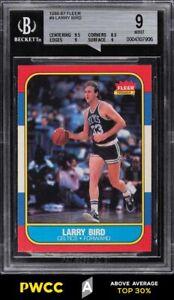 1986 Fleer Basketball Larry Bird #9 BGS 9 MINT (PWCC-A)