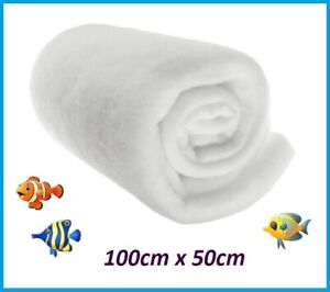 FILTER WOOL MEDIA FLOSS ROLL AQUARIUM POND FISH EXTERNAL TANK MARINE