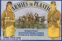 ARMIES IN PLASTIC WWI Scottish Highlanders Infantry Figures 20 Khaki FREE SHIP