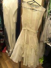 Ladies Beautiful Asos Cream Tulle Dress Size 10