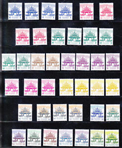 Thailand  2017-2021 MNH Sala Thai complete set with all different prints