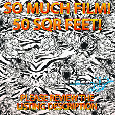 50 SQUARE FEET OF FILM - Crazy Tiger - HYDROGRAPHIC FILM HYDRO DIP FILM LL-153-C