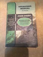 John Deere Operator's Manual Power Driven Windrowers V-Belt Drive OM-H25-148