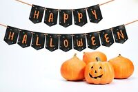 Happy Halloween Party Bunting Decoration Banner Garland - Spider Web Design