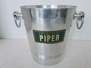 Vintage French PIPER Champagne Cooler Wine Ice Bucket made Argit of France
