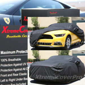 2015 FORD MUSTANG Breathable Car Cover w/Mirror Pockets - Black