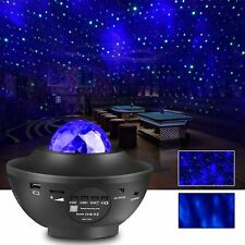 LED Starry Night Galaxy Projector Lamp Speaker - 3D Party Light Ocean Vibes Star