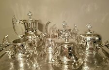 Victorian Silver Plated 6 Piece Tea Set by Albany Silver Plate Co.
