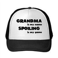 Grandma Is My Name Spoiling Is My Game Adjustable Trucker Hat Cap