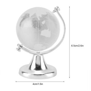 C Rystal Ass Ball Sphere Round Earth Obe Small Ornament Home Decoration Gift FD