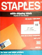 "staples white shipping labels 2""x4"" 100 sheets"