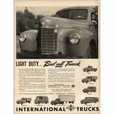 1946 International Trucks: Light Duty But All Truck Vintage Print Ad
