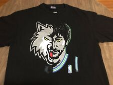 Ricky Rubio Minnesota Timberwolves Half Face NBA Exclusive Collection XL T Shirt