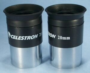 Celestron 20mm Light Weight Binoviewer Eyepieces For Binocular Viewer - Set of 2