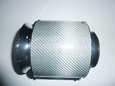 "Universal Silver Car Air Filter Carbon Fibre 3"" 76mm Performance Sports"