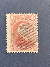 1868-73 NEWFOUNDLAND STAMP, Queen Victoria: 6c rose SG39
